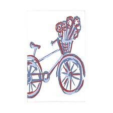 Bicicleta Polyester Fleece Throw Blanket