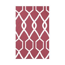 Charleston Geometric Print Polyester Fleece Throw Blanket