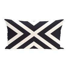 """X"" Marks the Spot Stripes Print Outdoor Pillow"