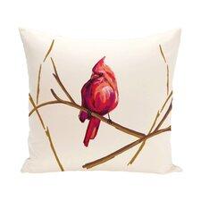 Cardinal Print Outdoor Throw Pillow