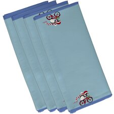 Pedaling Penguin Holiday Animal Print Napkin (Set of 4)