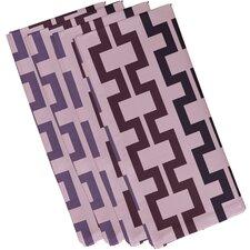 Cuff-Links Geometric Napkin (Set of 4)
