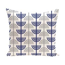 Holiday Geometric Print Menorah Abstract Throw Pillow