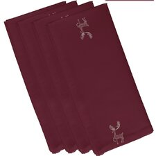 Deer Crossing Holiday Animal Print Napkin (Set of 4)