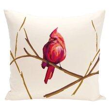 Cardinal Print Throw Pillow