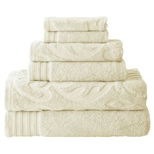 Jacquard Solid 6 Piece Towel Set