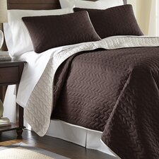 Sanctuary by PCT 3 Piece Reversible Coverlet Set