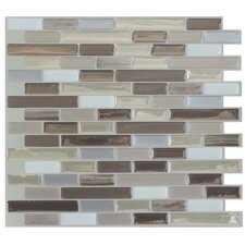 "Mosaik 10.25"" x 9.13"" Mosaic Tile in Beige & Gray"