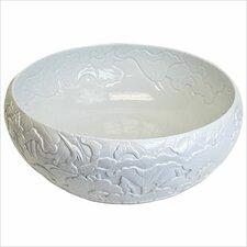 Hand Carved Porcelain Leaves Bathroom Sink