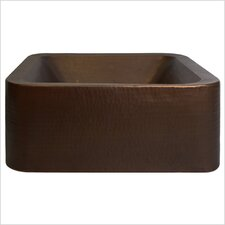 Small Square Double Wall Vessel Bathroom Sink