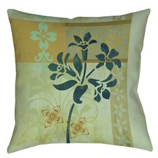 Collage Blossoms Patterned Printed Throw Pillow