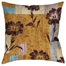 Floral Study in Blocks Printed Throw Pillow