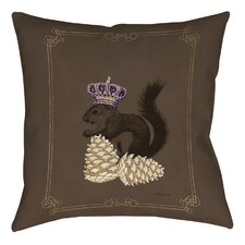 Luxury Lodge Squirrel Printed Throw Pillow
