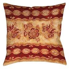 Damask Floral Stripes Printed Throw Pillow