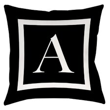 Classic Block Monogram Printed Throw Pillow