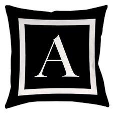 Classic Block Monogram Indoor/Outdoor Throw Pillow