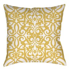 Bold in Blue Scroll Indoor/Outdoor Throw Pillow