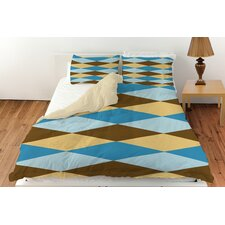 Bold in Blue Argyle Duvet Cover Collection