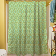 Green & Purple Shower Curtain