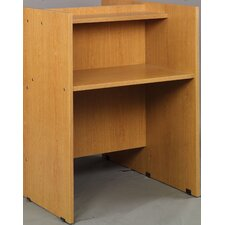 Library Wood Single Face Study Carrel Desk