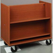 Library Sloped Shelf Book Cart