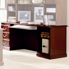 Legacy Pedestal Veneer Executive Desk