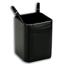 1000 Series Classic Leather Pencil Cup in Black