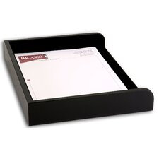 1000 Series Classic Leather Side-Load Letter Tray in Black