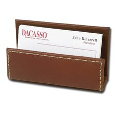 3200 Series Leather Business Card Holder in Rustic Brown