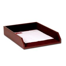 1000 Series Classic Leather Front-Load Legal Tray in Chocolate Brown