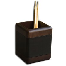 8000 Series Walnut and Leather Pencil Cup in Black