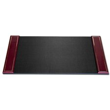 5000 Series 24kt Gold Tooled Leather 34 x 20 Side-Rail Desk Pad in Burgundy