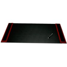 8000 Series Rosewood and Leather 34 x 20 Desk Pad