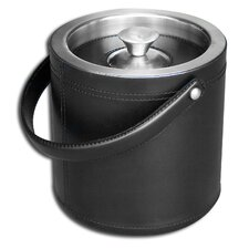 1000 Series Classic Leather Ice Bucket in Black