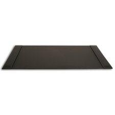 3200 Series Rustic Leather 34 x 20 Side-Rail Desk Pad in Rustic Black