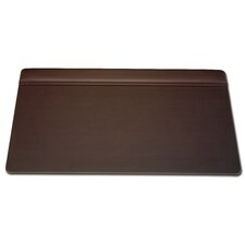 1000 Series Classic Leather 34 x 20 Top-Rail Desk Pad in Chocolate Brown