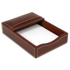 3200 Series Leather 4 x 6 Memo Holder in Rustic Brown