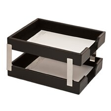 Double Econo-Line Leather Letter Trays