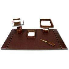 Leather 7-Piece Desk Set