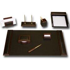 Leather 8-Piece Desk Set