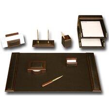 Leather 10-Piece Desk Set