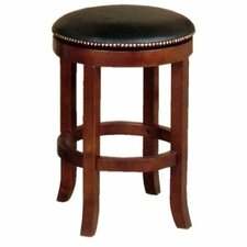 """Cappuccino 24"""" Swivel Bar Stool with Cushion (Set of 2)"""