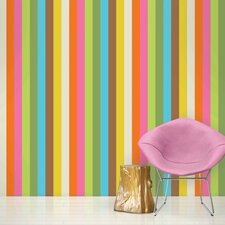 "French Bull 2.17' x 26"" Izzy Stripe Wallpaper"