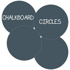 Circles Removable Chalkboard Wall Decal (Set of 4)