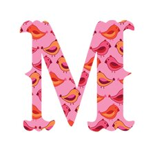 "Luv Letters ""M"" Wall Decal"