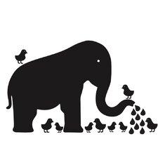 Baby Elephant Chalkboard Wall Decal