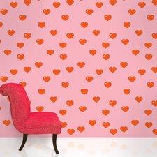 """2.17' x 26"""" Hearts Wallpaper"""