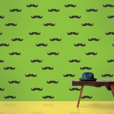 """2.17' x 26"""" Mustache Wallpaper"""