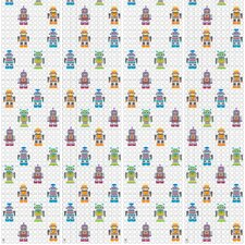 "French Bull 2.17' x 26"" Figural Robots Wallpaper"