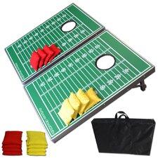 Football Edition CornHole Bean Bag Toss Game Set